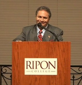 Assistant Professor of Politics and Government at Ripon College, Dr. Lamont Colucci